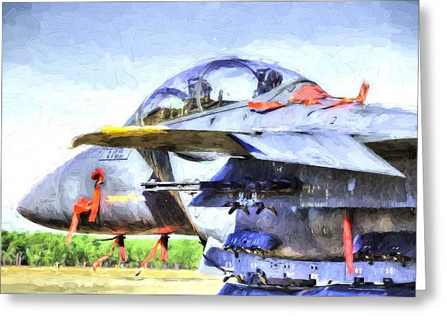 The F-15e Greeting Card