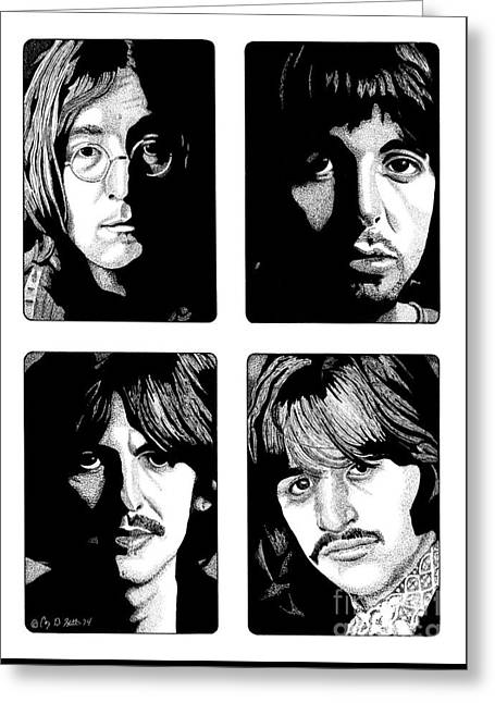 The Fab Four Greeting Card by Cory Still