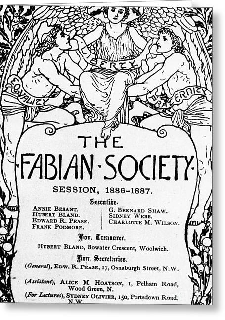 The Fabian Society Report Greeting Card by Walter Crane