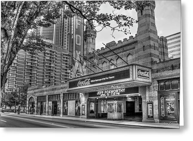 The Fabulous Fox Theatre Bw Atlanta Georgia Art Greeting Card