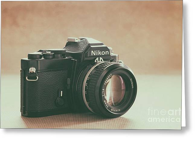 Greeting Card featuring the photograph The Fabulous Nikon by Ana V Ramirez