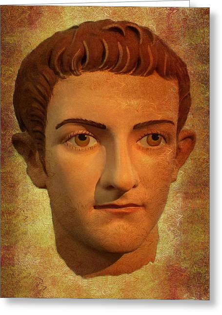 The Face Of Caligula Greeting Card
