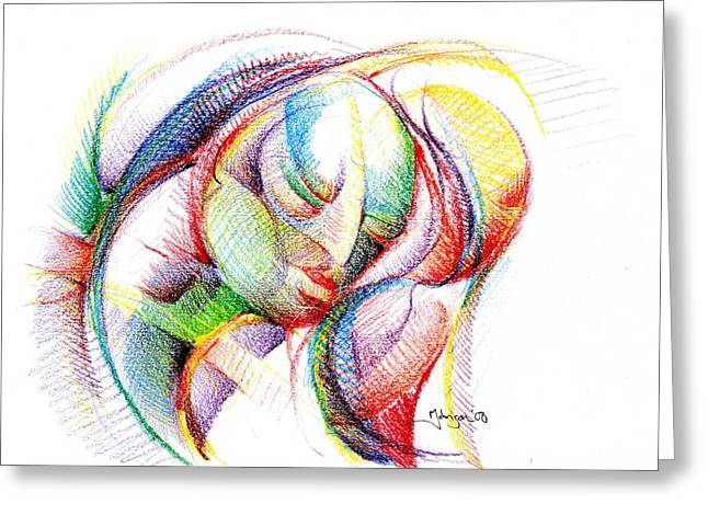 The Face Of Peace Greeting Card by Mark Johnson