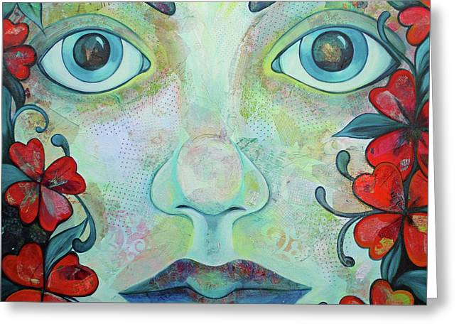 The Face Of Persephone I Greeting Card