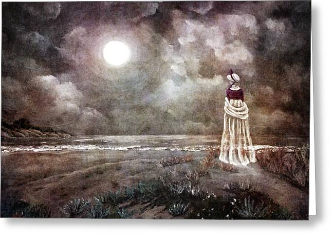 The Fading Memory Of Annabel Lee Greeting Card