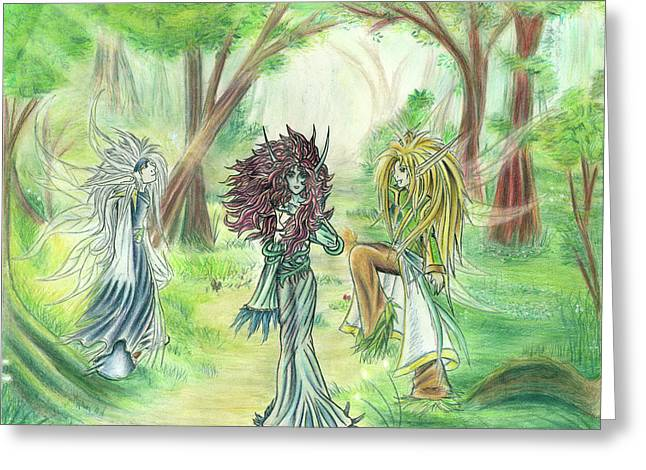 The Fae - Sylvan Creatures Of The Forest Greeting Card