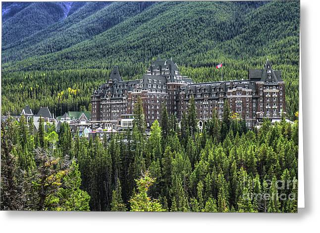 The Fairmont Banff Springs Greeting Card
