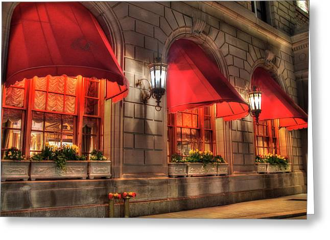 Greeting Card featuring the photograph The Fairmont Copley Plaza Hotel - Boston by Joann Vitali