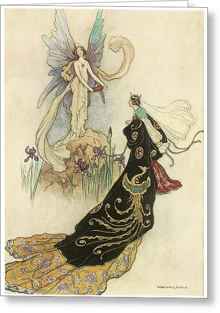 Warwick Greeting Cards - The Fairy Book Greeting Card by Warwick Goble