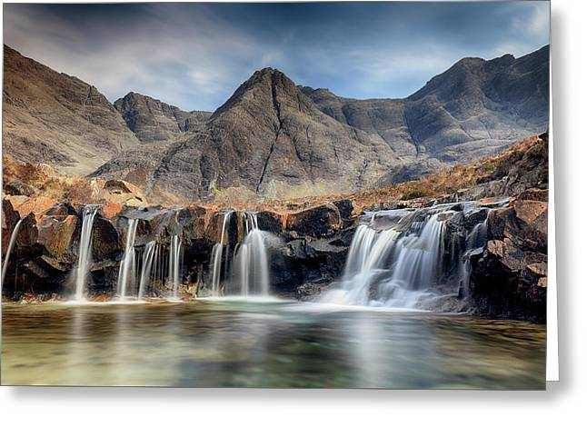Greeting Card featuring the photograph The Fairy Pools - Isle Of Skye 3 by Grant Glendinning