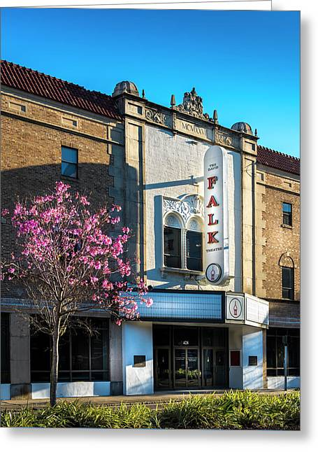 The Falk Theater Greeting Card by Marvin Spates