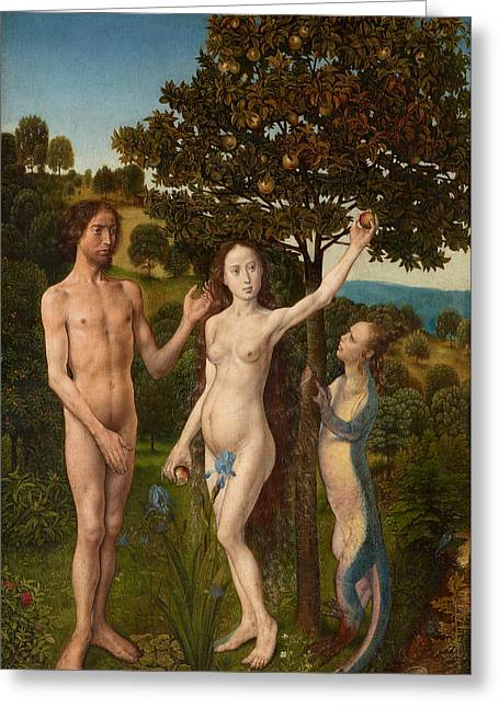 The Fall Of Man And The Lamentation Greeting Card