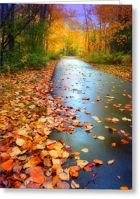 The Fallen Leaves Of Autumn Greeting Card by Tara Turner