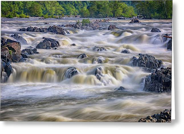 The Falls At Great Falls Park Greeting Card