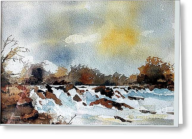 The Falls At Lismore, Waterford Greeting Card