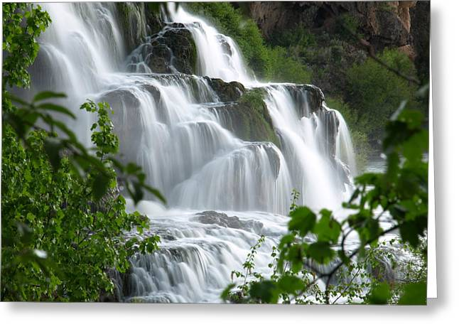 Greeting Card featuring the photograph The Falls by DeeLon Merritt