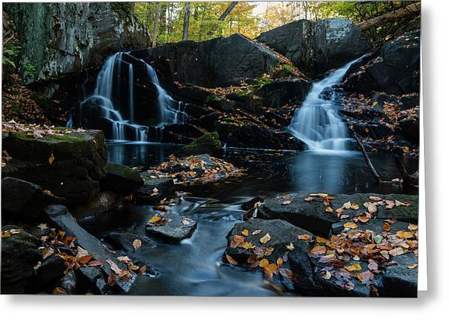 The Falls Of Black Creek In Autumn IIi Greeting Card