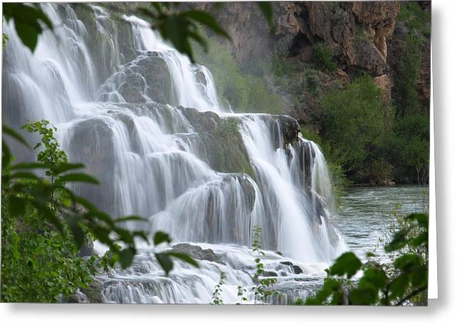 The Falls Of Fall Creek Greeting Card
