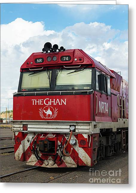 The Famed Ghan Train  Greeting Card