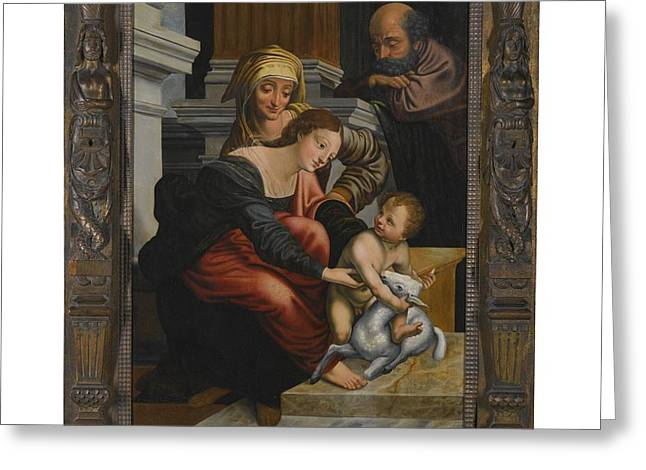 The Family With Saint Anne Greeting Card by MotionAge Designs