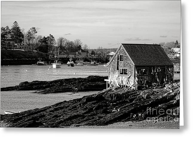The Famous Lobsterman Shack On Mackerel Cove  Greeting Card by Olivier Le Queinec