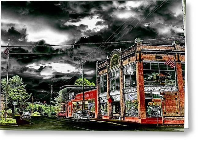 The Famous Old Forge Hardware Store Greeting Card by David Patterson