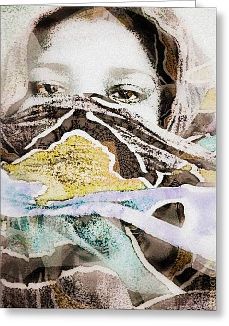 Northern Africa Mixed Media Greeting Cards - The Fania People - Chad Central Africa Greeting Card by Fania Simon
