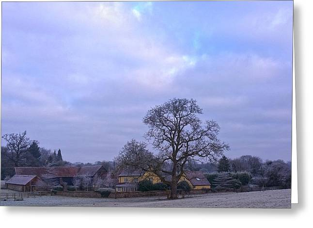 The Farm In Winter Greeting Card
