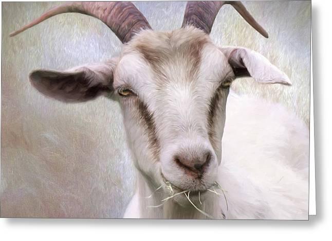 The Farmer's Billy Goat Greeting Card by Lori Deiter