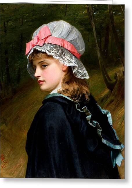 The Farmers Daughter Greeting Card by Charles Sillem Lidderdale