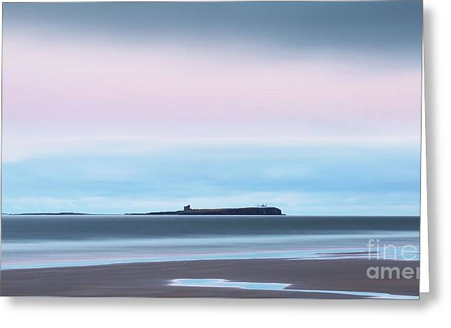 The Farne Islands From Bamburgh Greeting Card by Tony Higginson