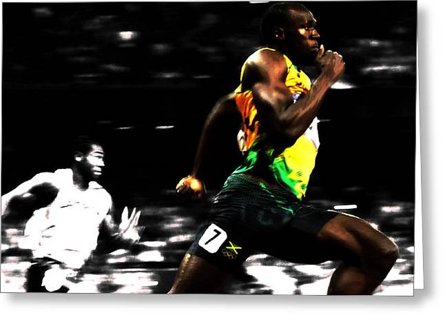 The Fastest Man On Earth Usain Bolt Greeting Card