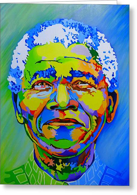 The Father Of The Rainbow Nation  Greeting Card by Netsa Lemma