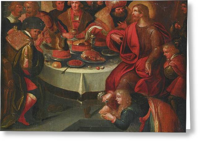 The Feast In The House Of Simon Greeting Card
