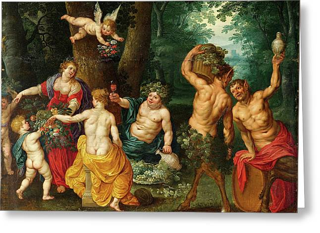 The Feast Of Bacchus - Sine Cerere And Baccho Liberate Venus Greeting Card
