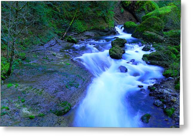 The Feel Of Fresh Air And The Music Of Water Greeting Card by Jeff Swan