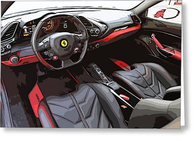 The Ferrari 488 2016 Greeting Card