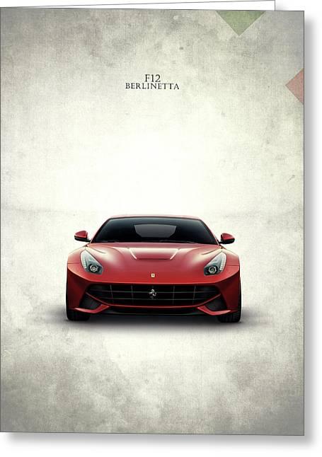 The Ferrari F12 Greeting Card