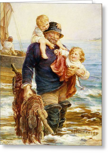The Ferry Greeting Card by Frederick Morgan