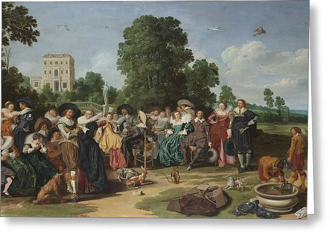 The Fete Champetre, 1627 Greeting Card by Dirck Hals
