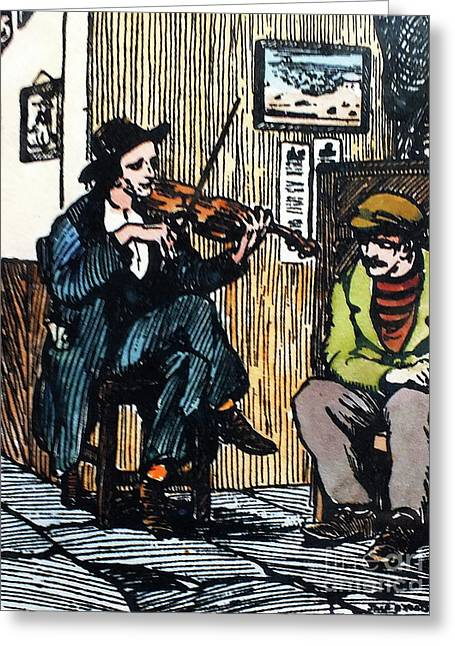 The Fiddle Player Greeting Card