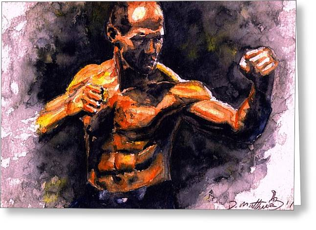The Fighter.  D Greeting Card