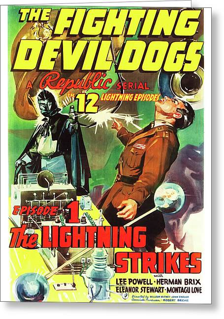 The Fighting Devil Dogs 1938 Greeting Card by Mountain Dreams
