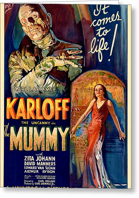The Film Poster For The Mummy Greeting Card