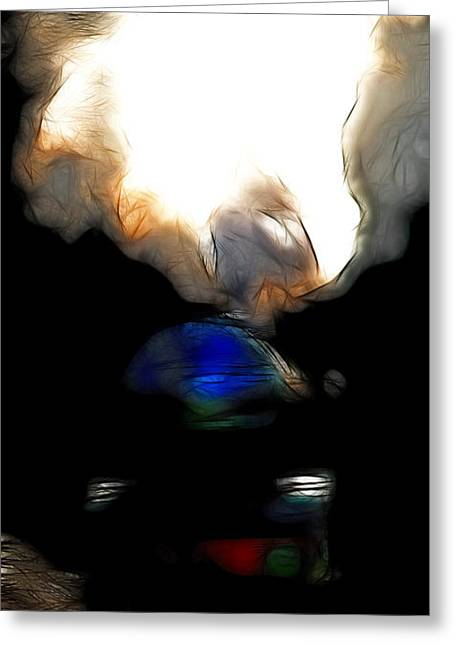 Burlington Northern Greeting Cards - The Final Junction Bound For A Place I Once Called Home . Abstract . Tall Version Greeting Card by Wingsdomain Art and Photography