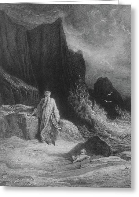 The Finding Of King Arthur Greeting Card by Gustave Dore