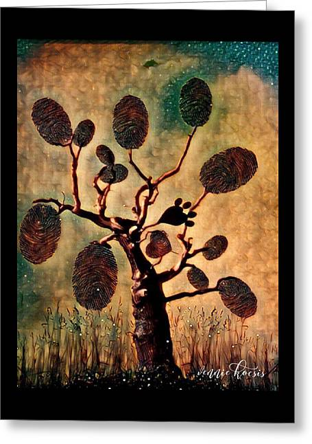The Fingerprints Of Time Greeting Card by Vennie Kocsis