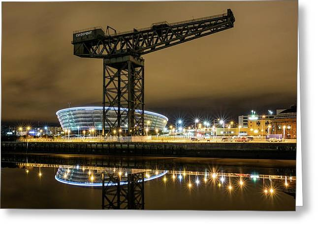 The Finnieston Crane Glasgow Greeting Card by Buster Brown