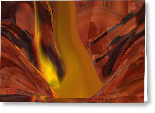 The Fire From Below Greeting Card