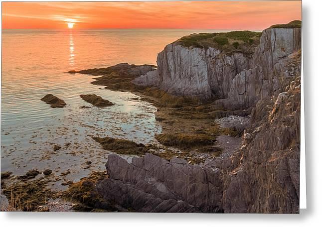 Nova Scotian Sunset Greeting Card